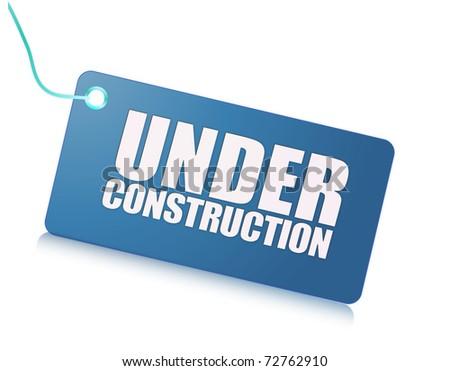under construction label - stock photo