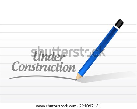 under construction message illustration design over a white background - stock photo