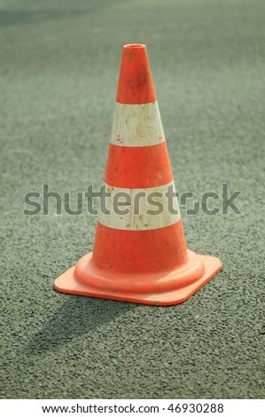 Under construction: road barrier - stock photo