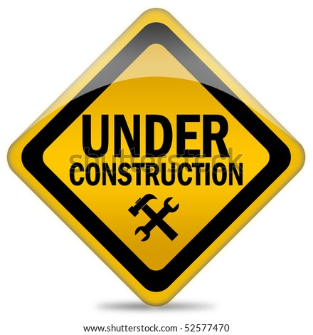Under construction sign - stock photo