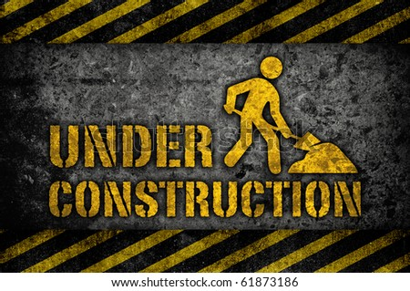 Under construction sign classic style - stock photo