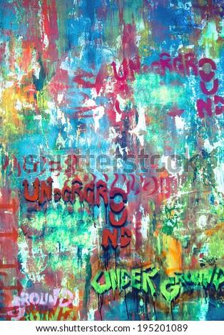 under ground grafiti  - stock photo