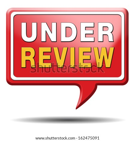 under review pending application button or icon - stock photo