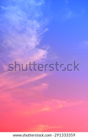 Under the blue sky and white clouds in the sunset  - stock photo