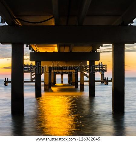 Under the Boardwalk - stock photo
