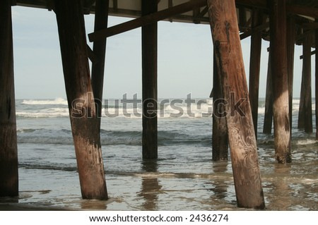 Under the Daytona Boardwalk - stock photo