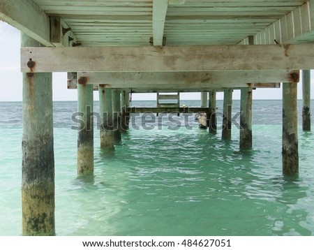 Under the dock