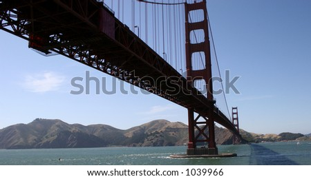 Under the Golden Gate - stock photo