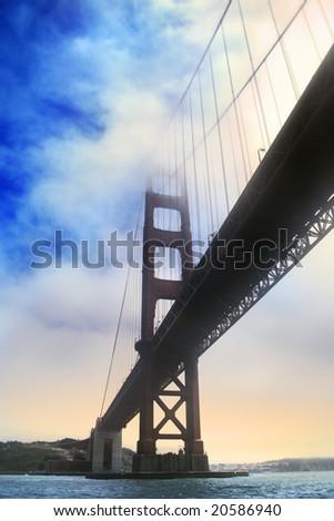 Under the Golden Gate bridge, San Francisco, California, USA - stock photo