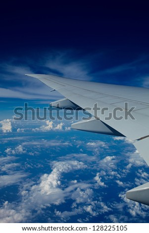 Under the wing of strong company - stock photo