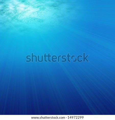 Under water illustration that would make an ideal background - stock photo