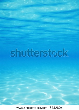 Under Water Vertical - stock photo