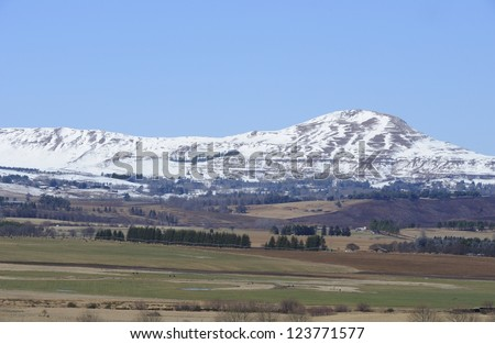 Underberg, kwazulu Natal, South Africa. Winter view over farmlands in the Umzimkulu valley, southern drakensberg,kwazulu natal, South Africa