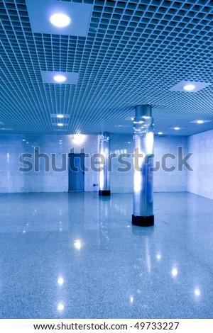 Underground corridor - stock photo