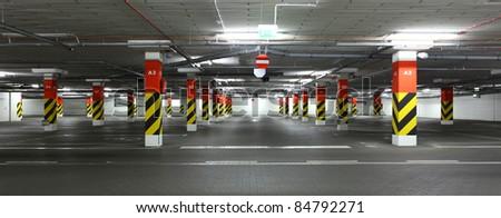 underground garage. Car`s parking - stock photo