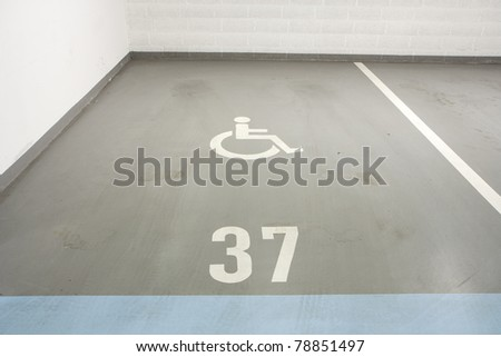 Underground garage - parking lot in a basement of house for disabled person