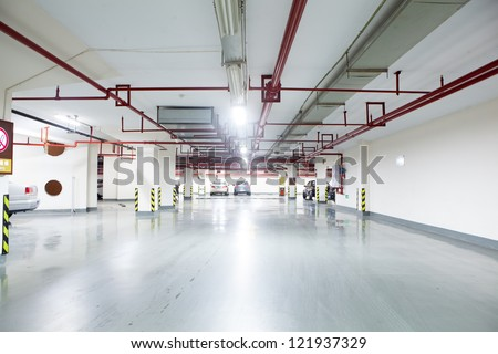underground park - stock photo
