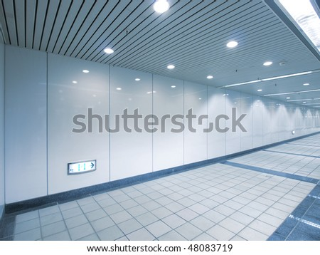 Underground passage - stock photo