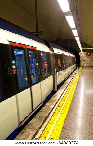 underground station in Madrid, Spain - stock photo