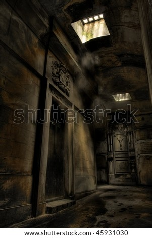 Underground Tomb - stock photo