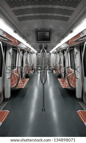 Underground train. - stock photo