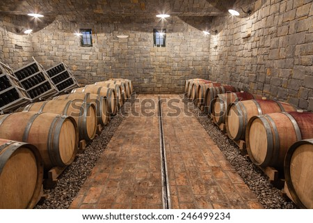 Underground Wine Cellar  shallow doff & Underground Wine Cellar Shallow Doff Stock Photo (Download Now ...