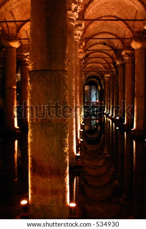 Undergrounf Palace cistern in Istanbul