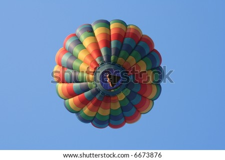 Undershot of a colorful balloon - stock photo