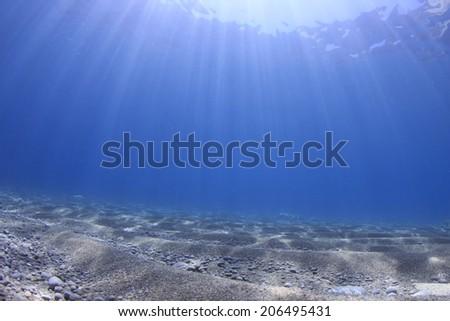 Underwater background and sea floor - stock photo