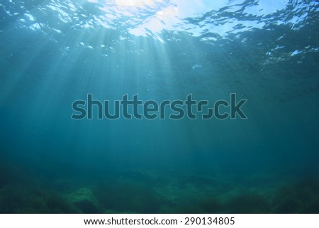 Underwater Blue Background - stock photo