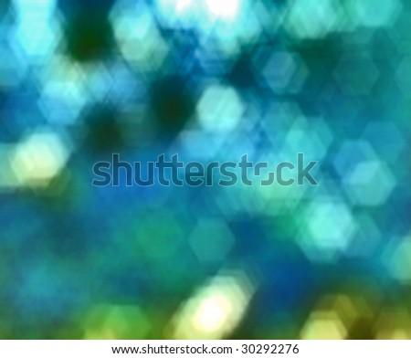 Underwater blur bokeh - stock photo