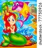 underwater creatures - stock vector