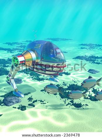Underwater Explorer - stock photo