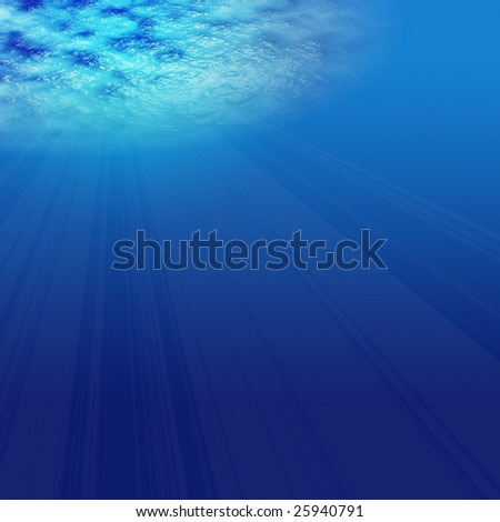 Underwater illustration - stock photo