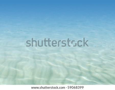Underwater illustration - stock photo