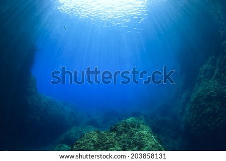 Underwater Ocean Background Photo - stock photo