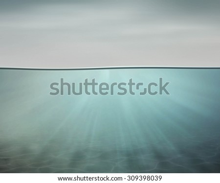 Underwater sea and ocean backgrounds for your design - stock photo