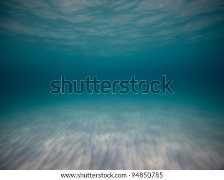Underwater shoot of a sandy sea bottom - stock photo