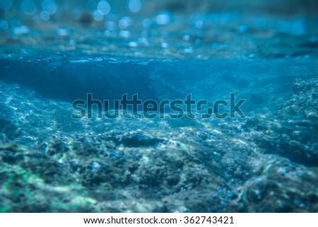 Underwater View Of The Sea - stock photo