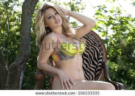 underwear model - stock photo