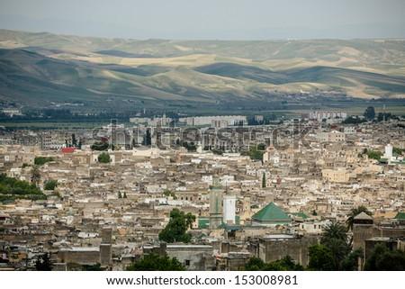 Unesco heritage medina of the Fes, Morocco - stock photo