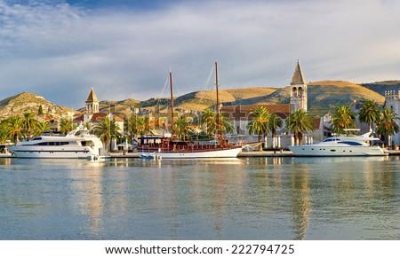 UNESCO town of Trogir waterfront - stock photo
