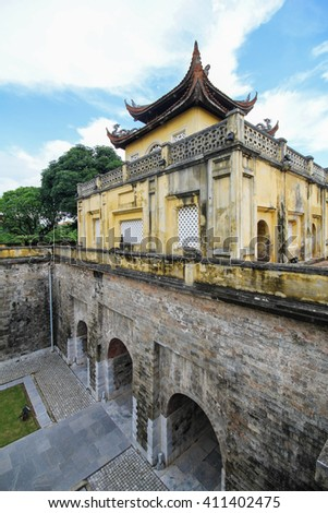 UNESCO World Heritage Site, Imperial Citadel of Thang Long in Hanoi, Vietnam