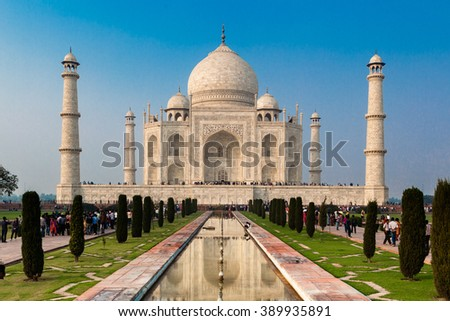 UNESCO World Heritage Site of Taj Mahal, Agra, Rajasthan, India