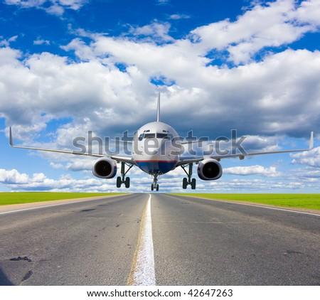 Unexpected landing - stock photo