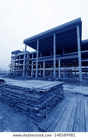 unfinished construction site, north china  - stock photo