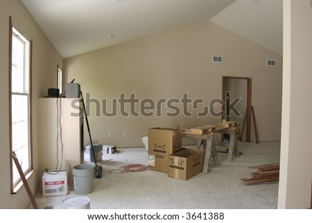 Unfinished LIving Room - stock photo