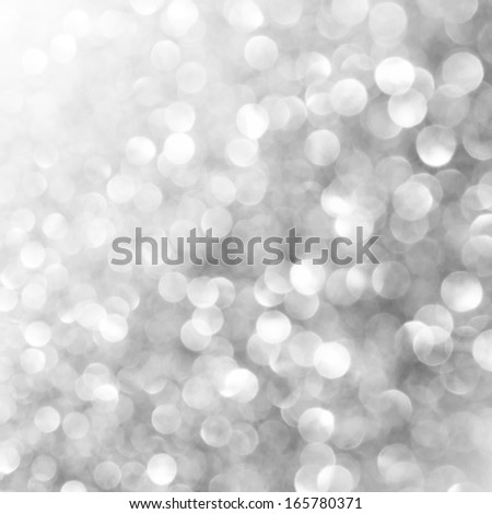 Unfocused abstract silver holiday background - stock photo