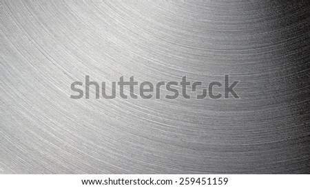 unfocused Brushed steel plate texture with reflections - stock photo