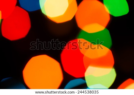 unfocused light colorful